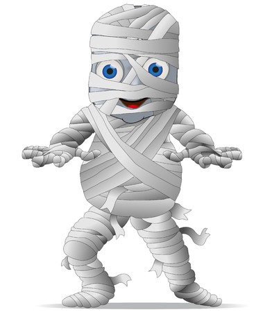 A Cute Mummy Character Graphic Фото со стока