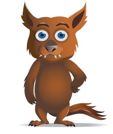 loup garou: Un graphique caract�re Furry Brown Cute loup-garou