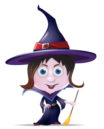 Cute Halloween Witch Character Graphic