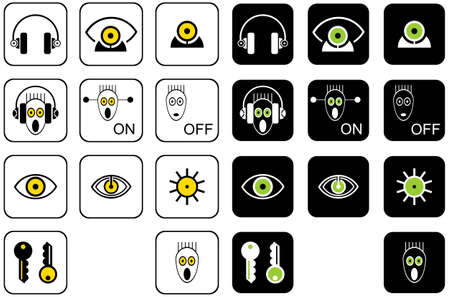 Set vector icons for musical web site Vector