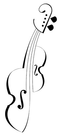 violas: Vector stylized musical instrument. Element of design and decoration. Tattoo.