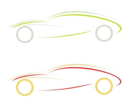stylized vector illustratie van de sport auto. embleem. ontwerpelement Vector Illustratie