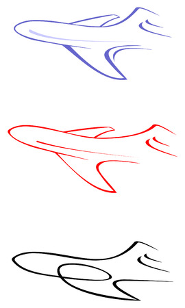 liners: Abstract stylized image of air liner - vector illustration.