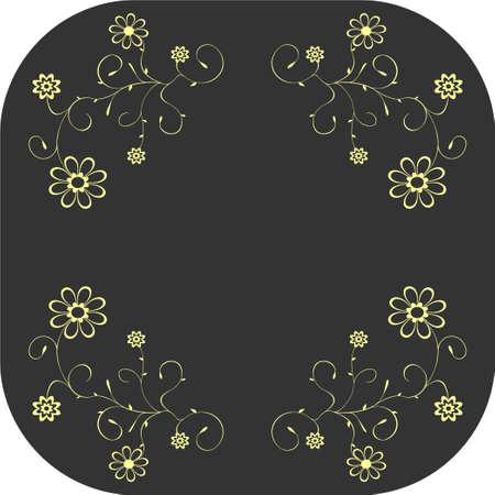 Vector floral patterns on grey background. Decoration, design elements. Stock Vector - 5219464