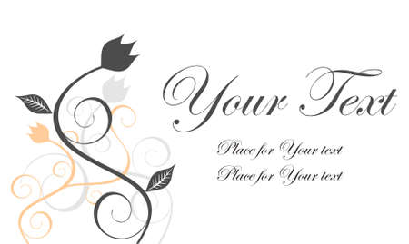 Elegant background with abstract flowers - vector illustration, design element. Place for some text.  Vector