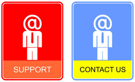 contact info: Vector information sign - contact us, support. Icon for web site.