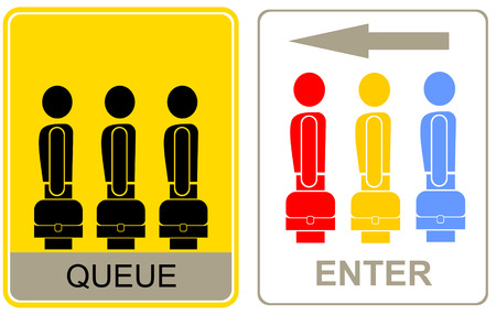 People are going to exit - information sign. Vector pictogram. Vector