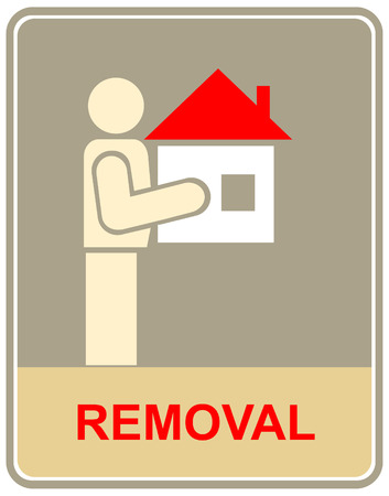 relocation: Information vector sign, pictogram - removal, relocation.