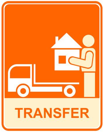 carrying box: Signo vector de la Informaci�n, pictograma - eliminaci�n, transporte, transpirtation.