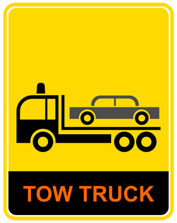 the wrecker: Tow truck.  Lorry, specially equipped for towing away cars - traffic sign.