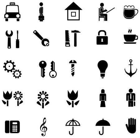 set of vector icons Stock Vector - 5338137