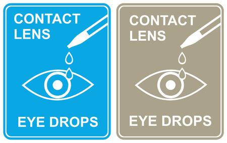 moisturizing: Moisturizing eye drops, refreshing - stylized vector icon, pictogram, sign.