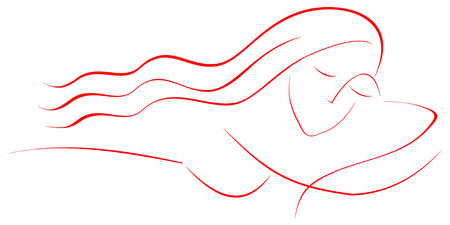 Relaxation, massage, spa. Sleeping beautiful woman with long hair. Stylized vector illustration. Stock Vector - 5483261