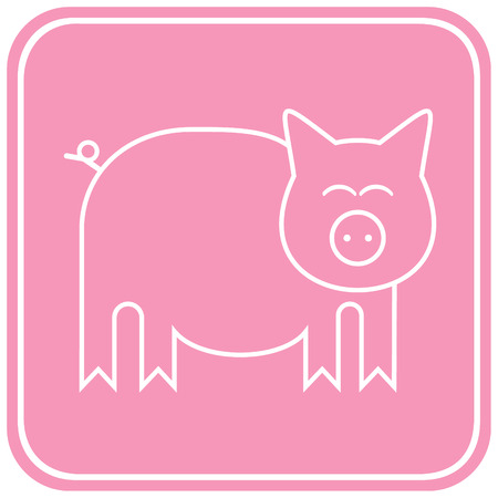 Stylized image of a pig Stock Vector - 6071101