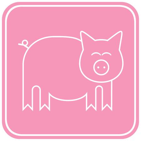 grunter: Stylized image of a pig