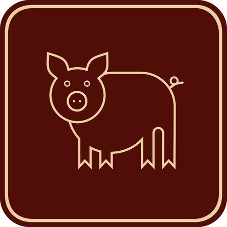 Stylized image of a pig, piglet.  Vector