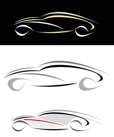 Modern sports car. Can be used as logotype (logo)  Vector