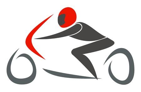 freedom logo: SPORTBIKE carreras - ilustraci�n vectorial. GP Racing.