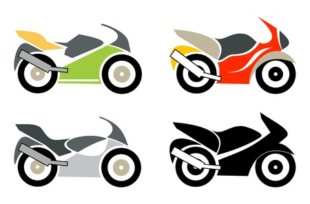 trail bike: Sport bike, motorcycle - isolated illustration on white.  Illustration