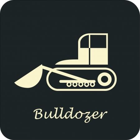 bulldozer: Bulldozer - vector icon. Can be used as logo for construction company. Illustration