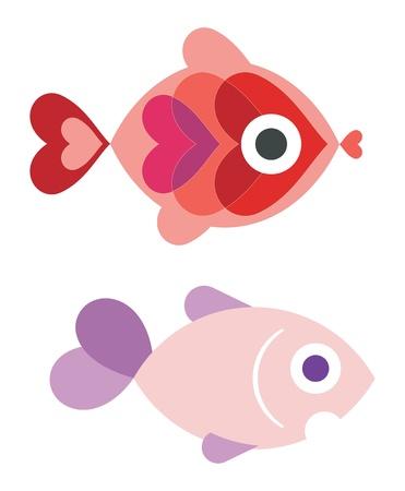 ornamental fish: Pesci ornamentali Vettoriali