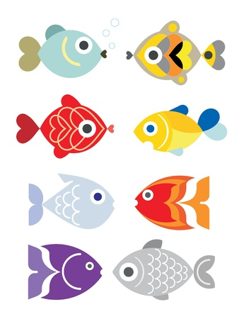 Ornamental aquarium fishes Stock Vector - 9284947