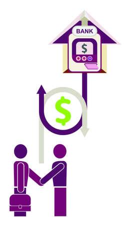 advantageous: Bank loan, credit - business icon.
