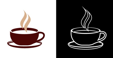 arabica: Cup of coffee - vector icon. Outline. Isolated illustration. Illustration