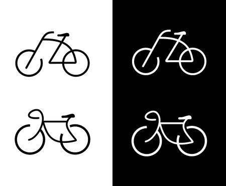 mountain bicycle: Bike - icona vettoriale. Disegno elemento isolato. Segno. Pu� essere usato come logo. Vettoriali