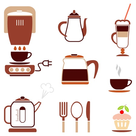 brownie: Coffee - set of color vector icon for cafe, bar, restaurant. etc.