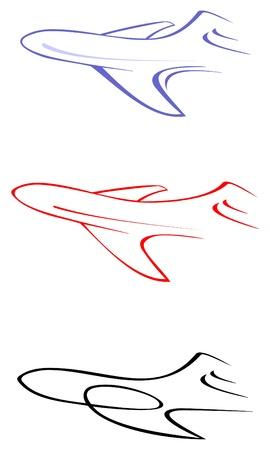 Avions - illustration. Peut être utilisé comme logo pour votre entreprise.  Banque d'images - 10425512
