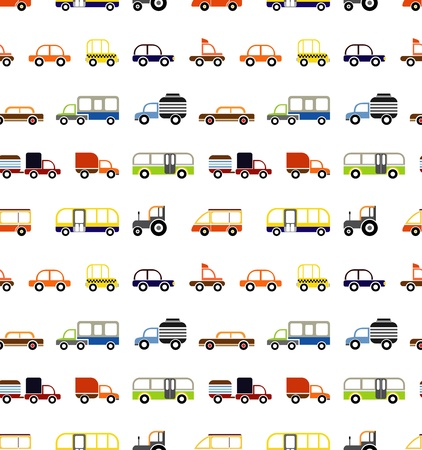 seamless cars - isolated objects on white background. Vector