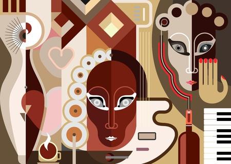 jazz club: Musique de fond abstrait
