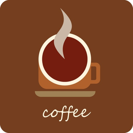 Coffee cup - isolated vector icon. Stylized image. Vector