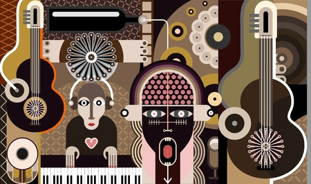 Music Background - abstract vector illustration. Vector