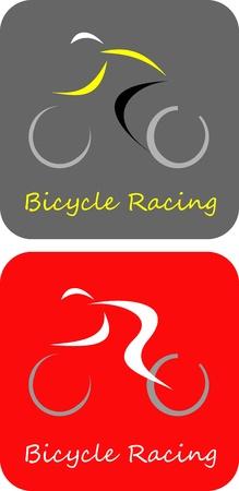 Fiets Racer - geïsoleerde vector pictogram. Kan gebruikt worden als logo.