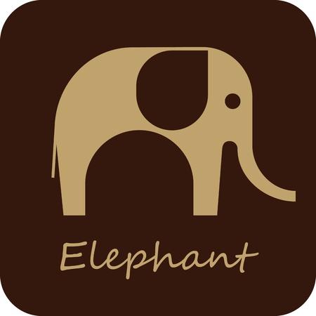 elefante: El elefante - vector icono aislado. Puede ser utilizado como logotipo.