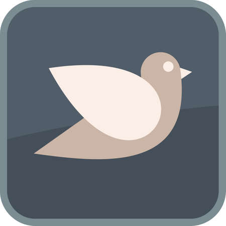 Flying bird - isolated vector icon, glass button. Can be used as logo. Vector