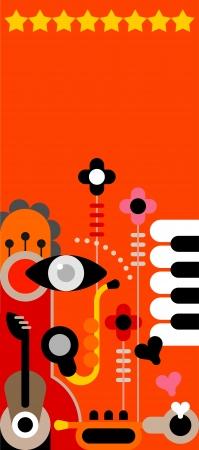 abstract music: Abstract Muziek Kunst achtergrond. Stock Illustratie