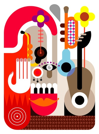jazz guitar: Music Festival - abstract