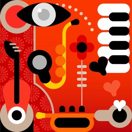 abstract music: Abstract Muziek - grafische kunst.