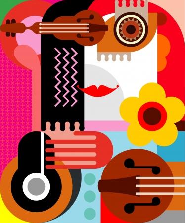 artes plasticas: Retrato abstracto de una mujer Vectores