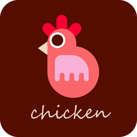 poult: Chicken - isolated vector icon.