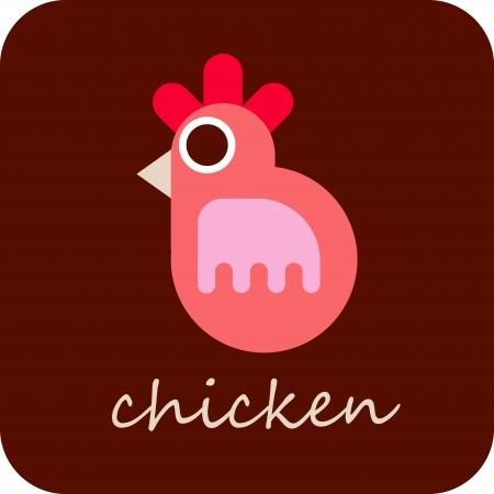 poult: Pollo - vector icono aislado.