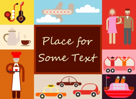 Travel concept background with place for some text. Vector