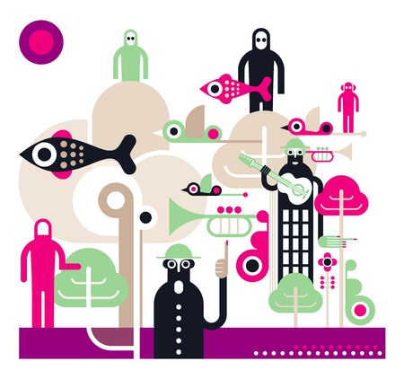 extraterrestrial: Fantastic concert - creative  illustration.