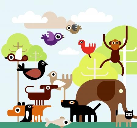 flying monkey: Jungle Animals