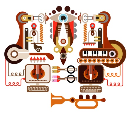 Musical laboratory - abstract illustration. Isolated on white background. Stock Vector - 15091856