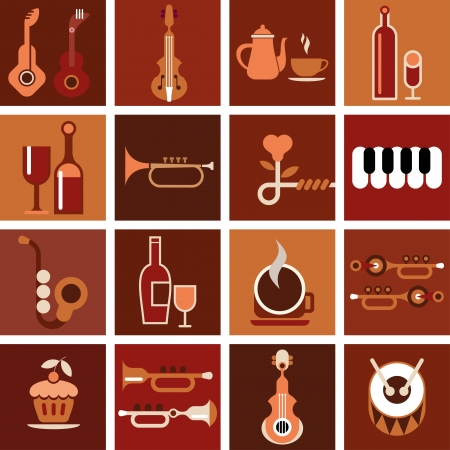 abstract music background: Music cafe. Abstract musical background.