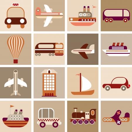 Travel and Transportation - vector illustration. Stock Vector - 16135344
